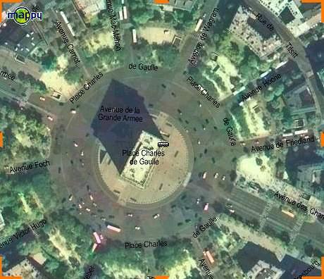 凱旋門の航空写真