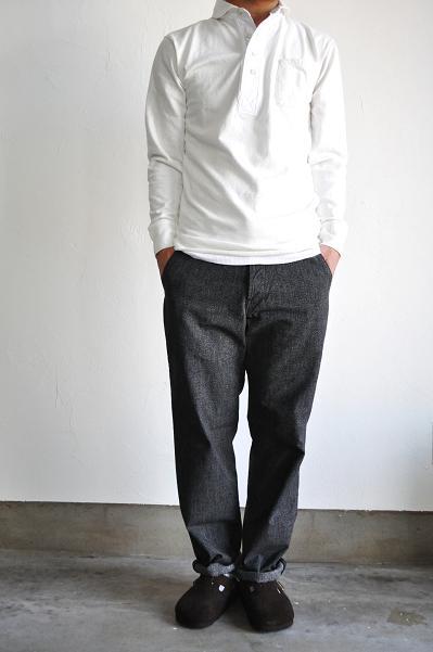 HAVERSACK/ハバーサック 12/-Slab Pearl Stitch Polo