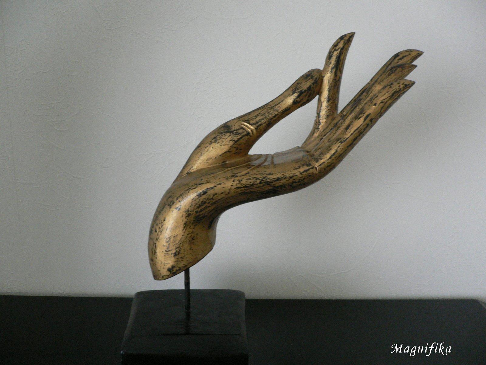 Lotus Screen 蓮  仏陀の手 と 蓮の花 budda's hand ...