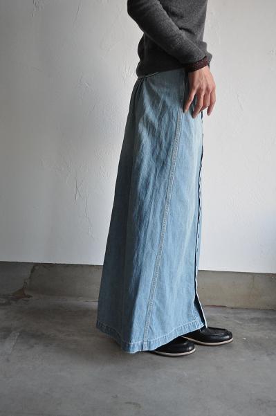 kapital/キャピタル 12ozデニム チムニースカート