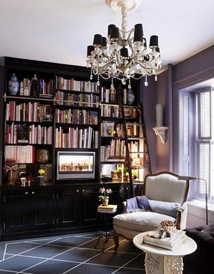 Table coordinate school salon de for Home library study design ideas