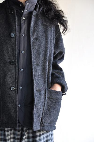 <br /> STYLE CRAFT WARDROBE/スタイルクラフトワードローブ <br /> COAT #9(Wool Charcoal)