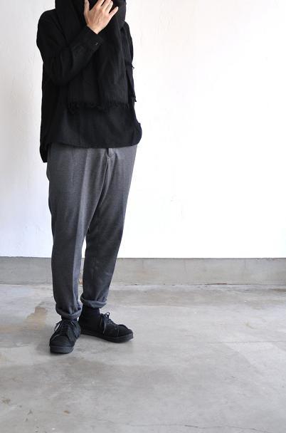 jujudhau/ズーズーダウ シャツ/COLLARED SHIRTS(W/C BLACK)