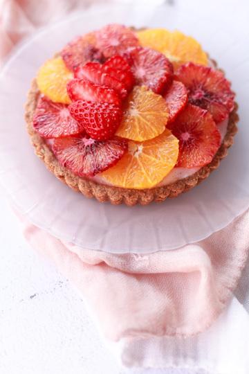 fresh orange tart with strawberry yogurt strange orange tart blood