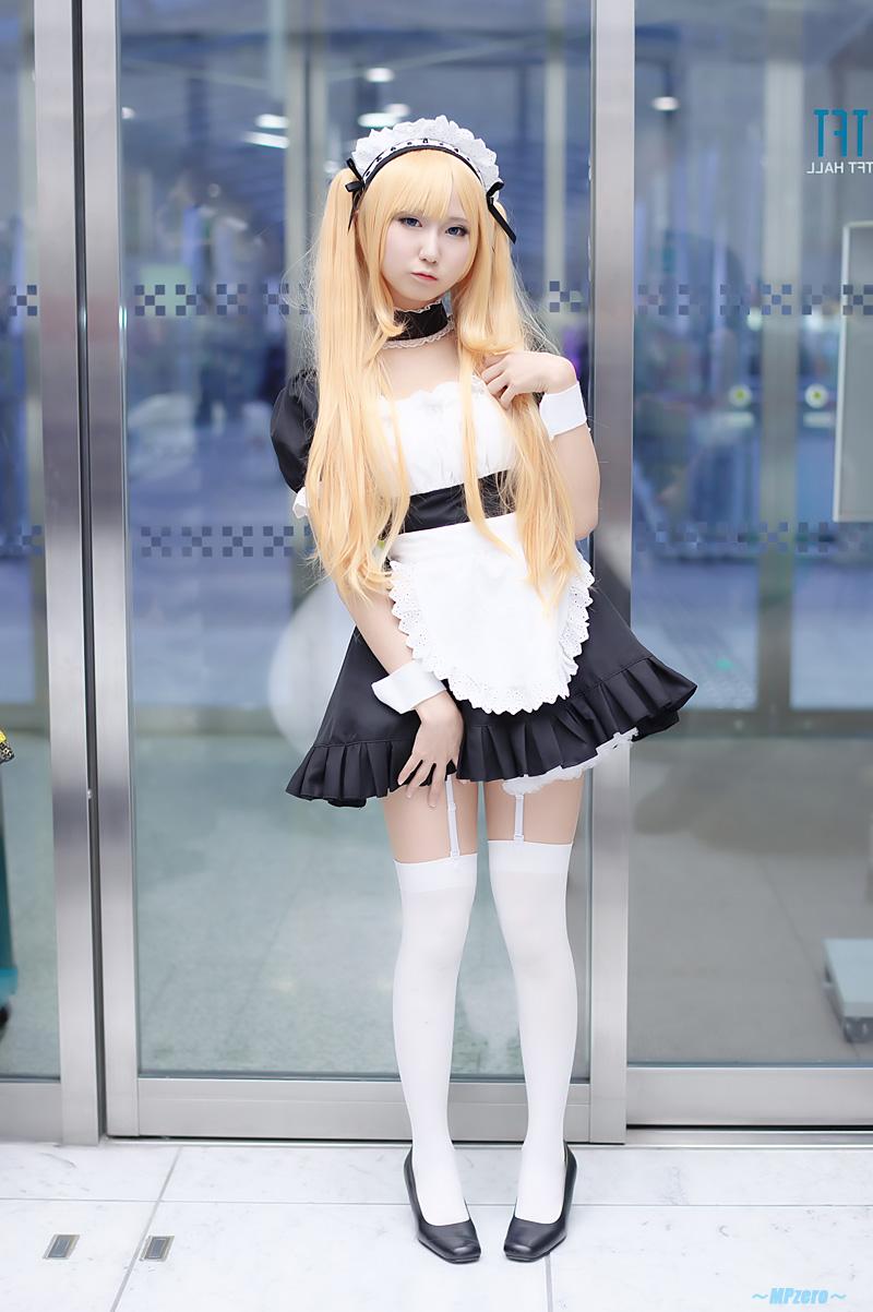 blonde hair cosplay dress garter belt hairband seri tagme ...