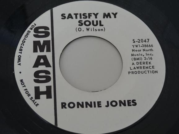 Ronnie Jones Satisfy My Soul My Only Souvenir