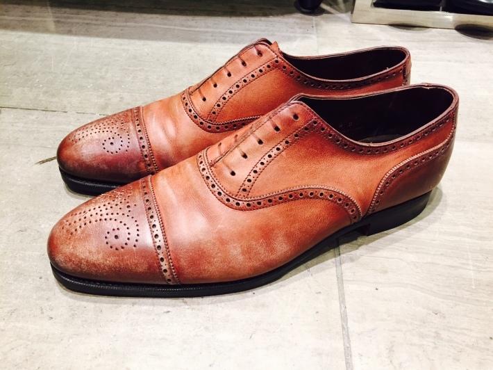「CROCKETT & JONES」 COVENTRYをクリーニング - 銀座三越5F シューケア&リペア工房<紳士靴・婦人靴・バッグ・鞄の修理&ケア>