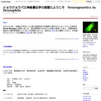 News - ショウジョウバエ神経遺伝学の部屋にようこそ Neurogenetics in Drosophila