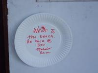 『今から海に行くので留守にします』のサイン - Hawaiian LomiLomi  ハワイのおうち 華(レフア)邸