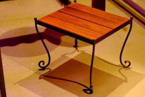 IRON SIDE TABLE - IRON WORKS MIDNIGHT PUMPKIN