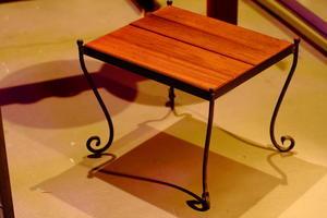 IRON SIDE TABLE - IRON WORKS MIDNIGHT PUMPKIN