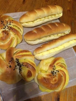 ミルクフランスとさつまいもパン -