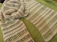 爽やかコットンショールを編みます@6月の1day編み物レッスン - 空色テーブル  編み物レッスン&編み物カフェ