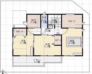 【Web内覧会15】寝室 - ローコストで建てる四角い家