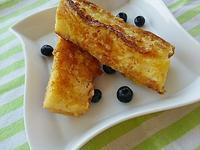 バケットのフレンチトーストの朝ごぱん - 料理研究家ブログ行長万里  日本全国 美味しい話