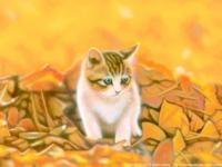 11月のデスクトップピクチャ(壁紙) - junya.blog(猫×犬)リアリズム絵画