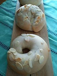 アーモンドベーグルの朝ごパン - 料理研究家ブログ行長万里  日本全国 美味しい話