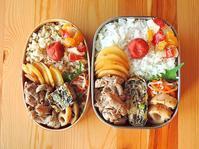 7/7(木)豚肉とじゃかいものガーリック炒め弁当 - おひとりさまの食卓plus