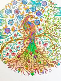 Thank you!! 彩色例の投稿 『ひみつの花園 アーティスト・エディション』by まっこさん - オトナのぬりえ『ひみつの花園』オフィシャル・ブログ