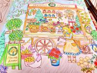 Thank you!! 彩色例の投稿 『ロマンティック・カントリー3番目の物語』by みかちんさん - オトナのぬりえ『ひみつの花園』オフィシャル・ブログ