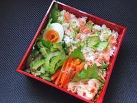 8/24 鮭ときゅうりの混ぜ寿司弁当 - ひとりぼっちランチ