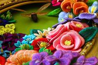 2016年作品No5 夏の不意打ち(キルト&ステッチショー2016展示作品) - ビーズ・フェルト刺繍作家PieniSieniのブログ