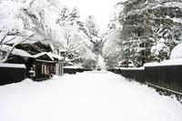 角館武家屋敷の冬風景   - 鳥観望遠鏡