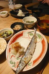 秋刀魚の塩焼き 〜初もの - 週末は晴れても、雨でも