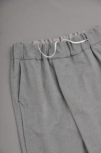 NO CONTROL AIR  P/C Melange Tricot Wrap Easy Pants (Grey Top) - un.regard.moderne