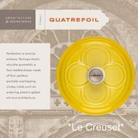 "★Le Creuset ""QUATREFOIL DUTCH OVEN""★ - Don't Worry! Be Happy!"