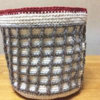ワッフル編みバッグ本体が完成しました。 - +you