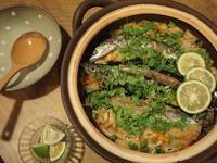秋刀魚の土鍋炊き込みごはん - コロニヘーヴ