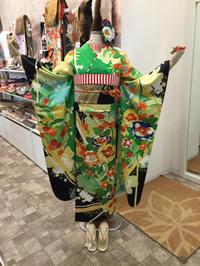 インパクトな振袖☆緑×黒 - Tokyo135° sannomiya
