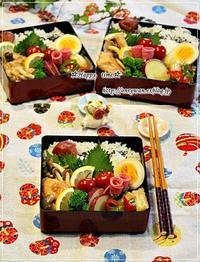 秋鮭しめじのバター醤油焼き弁当と常備菜♪ - ☆Happy time☆