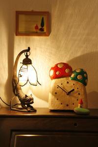 キノコの時計 - 木の工房るか   Gallery Diary