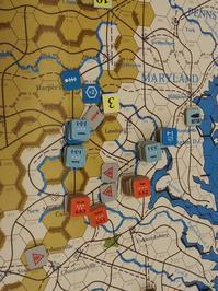 YSGA2016秋の連続例会の様子その4...(SPI)War between the States初版1862 Campaign Game4人戦二日目その➋ - YSGA(横浜シミュレーションゲーム協会) 例会報告