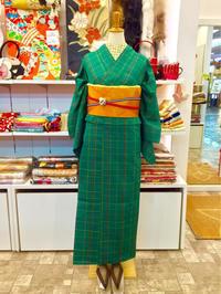 深緑色の単衣コーディネート☆ - Tokyo135° sannomiya