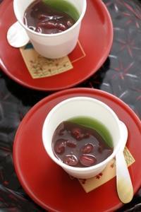 抹茶ゼリー +  ラムあんこ - うちのごはん***