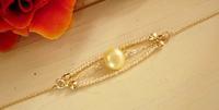 pearl◇パールデザインブレスレット(ゴールドフィルドブレスレット) - サリュー/Salut  職人さんのいるお店