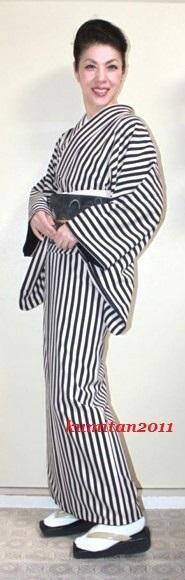 今日の着物コーディネート♪(2016.9.21)~袷着物&名古屋帯編~ - 着物、ときどきチロ美&チャ美。。。リサイクル着物ハタノシイナ♪