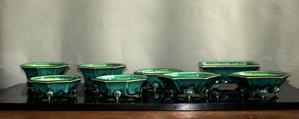 緑釉鉢とお地蔵さん - 雨宮園 ☆~盆栽・山野草・陶芸~☆趣味が仕事でも・・・。