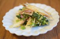 高菜と茗荷の豆板醤和え - 小皿ひとさら