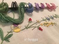お花の刺しゅう / 今日の空 - y-hygge