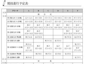 近畿中学大会 競技進行予定表掲載 - 大阪学芸高校 空手道応援ブログ