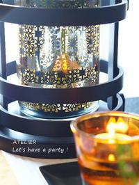 桂花をイメージしたフラワーベース ~「9月のテーブルコーディネート&おもてなし料理レッスン」より - ATELIER Let's have a party ! (アトリエレッツハブアパーティー)         テーブルコーディネート&おもてなし料理教室