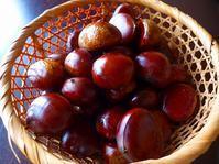 朝市で買った栗といただきものの葡萄 - てんてまり@Up.town