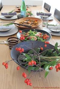 9月の料理教室 - テーブルの真ん中