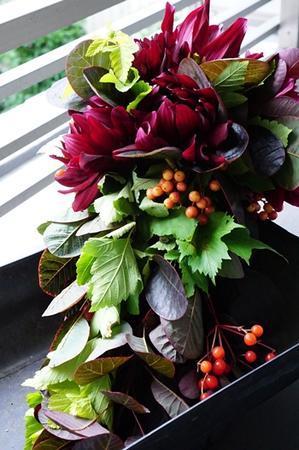 yumisaitopariisの秋色ブーケドマリエで初心忘れず - お花に囲まれて