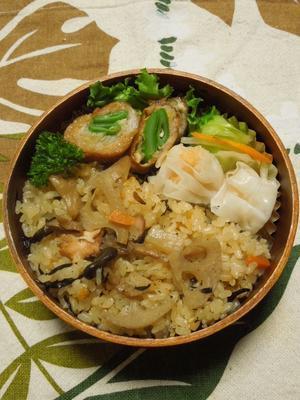 炊き込みご飯★(^^♪・・・・・さやちゃん弁当 - 日だまりカフェ