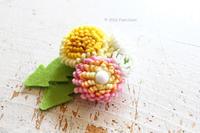 クチュリエ×PieniSieniコラボキット「フェルトで作るお花ブローチ~タンポポ~」 - ビーズ・フェルト刺繍作家PieniSieniのブログ